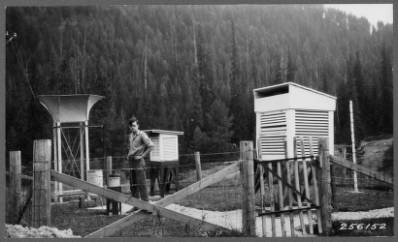 Weather recording station at Priest River<br&gt;322