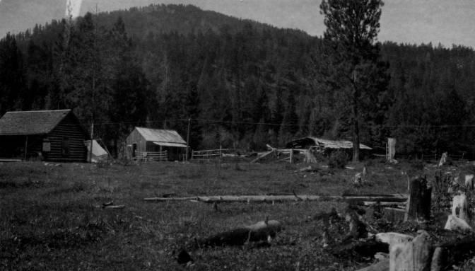 Allen (Magruder) Ranger Station, Bitterroot National Forest<br />Allen (Magruder) Ranger Station, Bitterroot National Forest, Flint, Holland, 1922