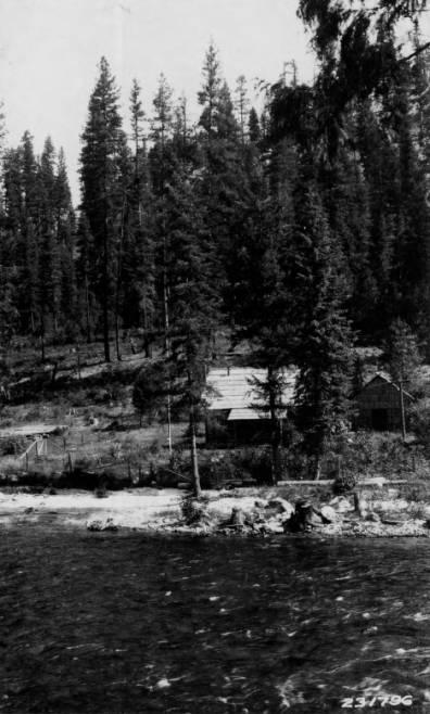 Bear Creek Ranger Station, Selway National Forest<br />Bear Creek Ranger Station, Selway National Forest, Wolfe, K., Forest Supervisor, 1929