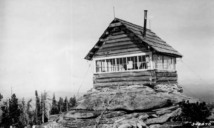 Burnt Knob Lookout, Nez Perce National Forest<br />Burnt Knob Lookout, Nez Perce National Forest, Photographer Unknown, Ca. 1938