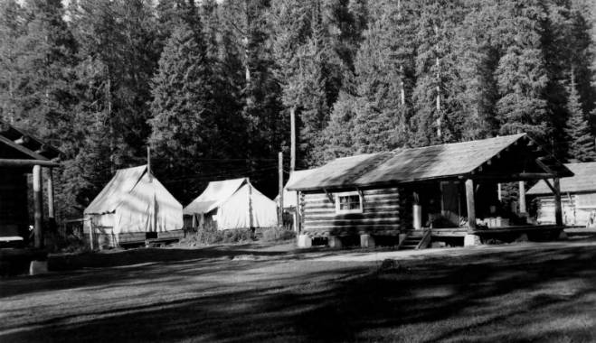Powell Ranger Station and Pack String<br />Powell Ranger Station and Pack String, Fickes, C. P., 1931