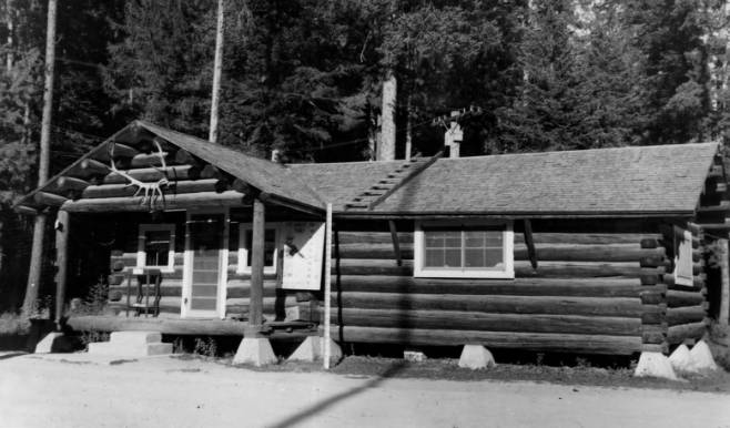 Office Building at Powell Ranger Station<br />Office Building at Powell Ranger Station, Photographer Unknown, 1954-09-13