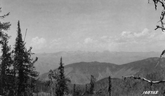 Selway Crags as seen from the South, Selway National Forest<br />Selway Crags as seen from the South, Selway National Forest, Flint, Howard, 1922-07-27
