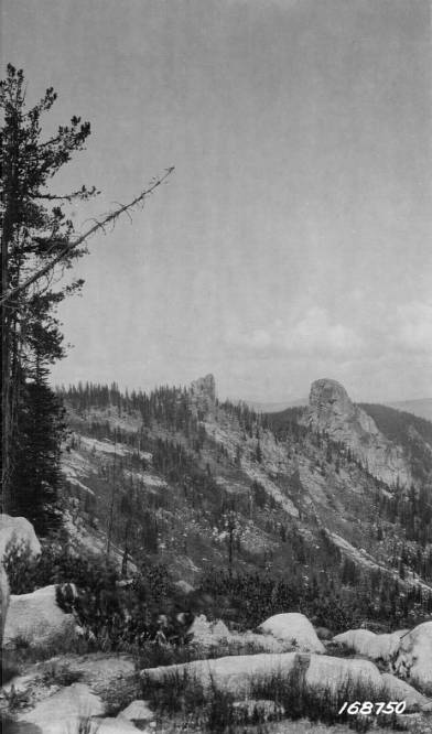 Crags and Clouds, Selway National Forest, Highline Trail<br />Crags and Clouds, Selway National Forest, Highline Trail, Flint, Howard, 1922