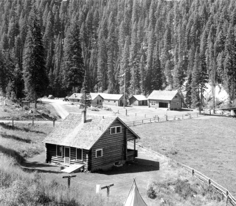 Deep Creek Ranger Station, Deep Creek, Bitterroot National Forest, Idaho<br />Deep Creek Ranger Station, Deep Creek, Bitterroot National Forest, Idaho, Swan, K. D., 1938