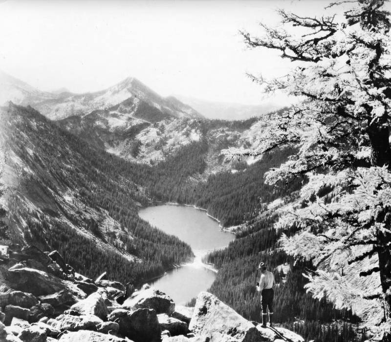 View of mountains on south side of Big Creek, Bitterroot National Forest<br />View of mountains on south side of Big Creek, Bitterroot National Forest, Swan, K. D. , 1923