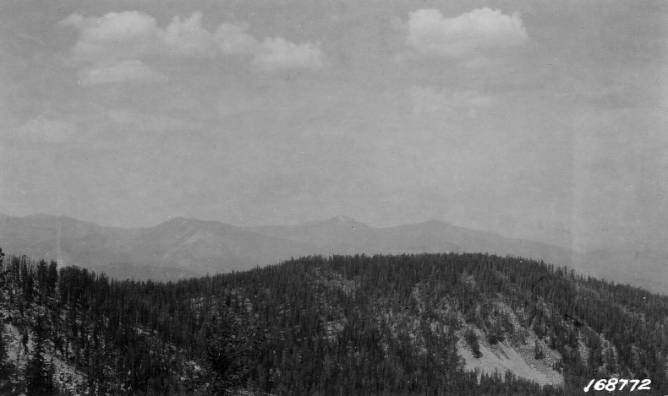 Spot Mountain as seen from Abe Mountain<br />Spot Mountain as seen from Abe Mountain, Flint, Howard, 1922