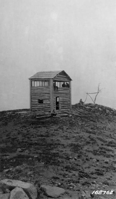 Spot Mountain lookout, Salmon Mountain District<br />Spot Mountain lookout, Salmon Mountain District, Flint, Howard, 1922-08-02