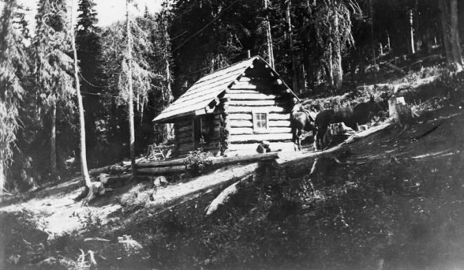 Burnt Knob Cabin<br />Burnt Knob Cabin, Photographer Unknown, 1920