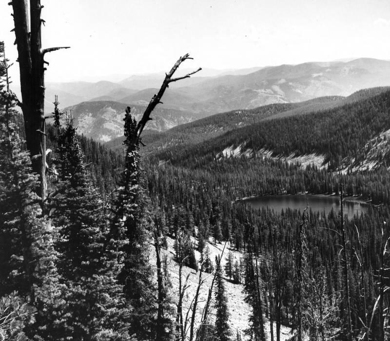 Gold Pan Lake, Magruder Ranger District<br />Gold Pan Lake, Magruder Ranger District, Steuenwald, W. E., 1958