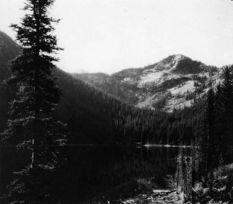 Upper Big Creek Lake, Bitterroot National Forest<br />Upper Big Creek Lake, Bitterroot National Forest, Swan, K. D., 1923