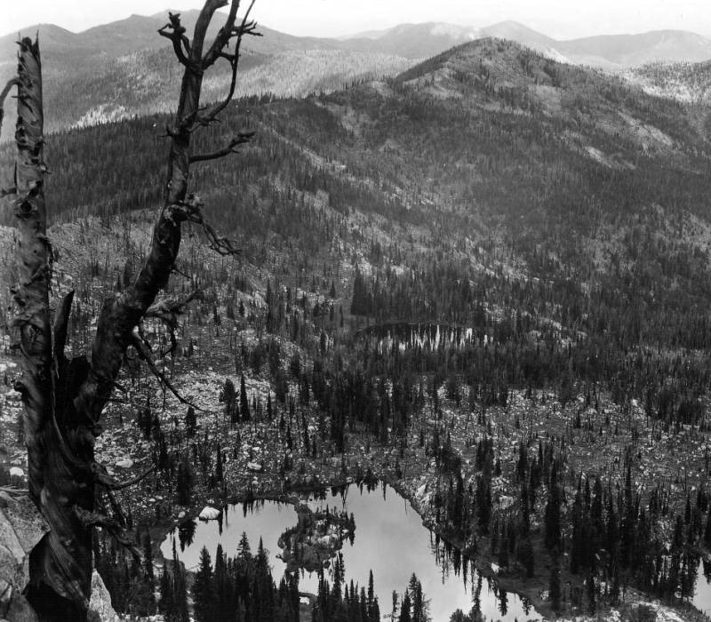 Burnt Knob Lake, Nez Perce National Forest<br />Burnt Knob Lake, Nez Perce National Forest, Swan, K. D., 1938