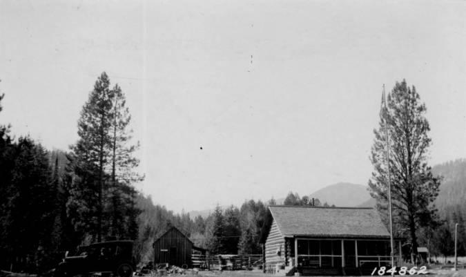 Allen Ranger Station, Bitterroot National Forest<br />Allen Ranger Station, Bitterroot National Forest, Theo Shoemaker, 1924