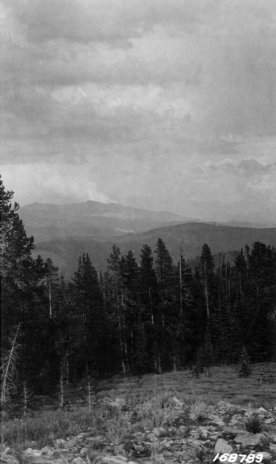 Landscape on Salmon Mountain District, Jerusalem Mountain (center)<br />Landscape on Salmon Mountain District, Jerusalem Mountain (center), Flint, Howard, 1922