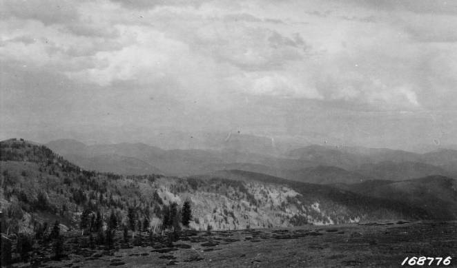"View of Salmon Mountain District """"A Storm on the High Range""""<br />View of Salmon Mountain District """"A Storm on the High Range"""", Flint, Howard, 1922"