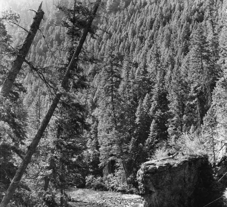 Fishing in the Selway River below the mouth of Deep Creek<br />Fishing in the Selway River below the mouth of Deep Creek, Swan, K. D., 1938