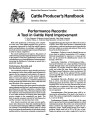 Performance Records: A Tool in Cattle Herd Improvement