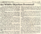 Are Wildlife Objections Overstated?