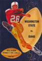 Football Program. Idaho - Washington State College, 10/17/1953, Neale Stadium, Moscow (Idaho)