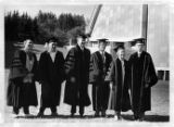 Honorary degree recipients with University of Idaho President Ernest W. Hartung