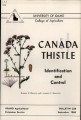 Canada thistle: identification and control