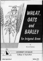 Wheat, oats and barley for irrigated areas