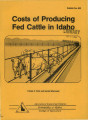 Costs of producing fed cattle in Idaho