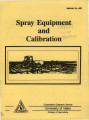 Spray equipment and calibration