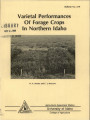 Varietal performances of forage crops in northern Idaho