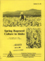 Spring rapeseed culture in Idaho