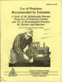 Use of practices recommended by extension :a study of the relationship between frequency of...
