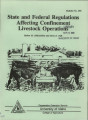 State and federal regulations affecting confinement livestock operations
