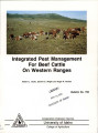 Integrated pest management for beef cattle on western ranges