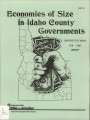 Economies of Size in Idaho County Governments