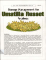 Storage management of Umatilla russet potatoes
