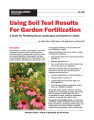 Using Soil Test Results for Garden Fertilization : A guide for fertilizing home landscapes and...