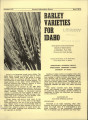 Barley varieties for Idaho: descriptions and comparisons based on obersavations at Aberdeen, Twin...