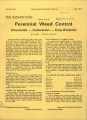 Row cultivated crops: the 3-C's of perennial weed control:  chemicals-cultivation-crop rotation