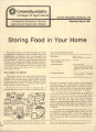 Storing food in your home