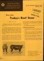 Facts about today's beef steer