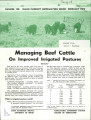 Managing beef cattle on improved irrigated pastures