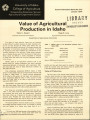 Value of agricultural production in Idaho