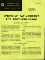 Spring wheat varieties for southern Idaho