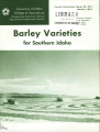 Barley varieties for southern Idaho