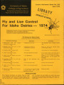 Fly and lice control for Idaho dairies, 1974