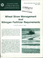 Wheat straw management and nitrogen fertilizer requirements