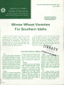 Winter wheat varieties for southern Idaho