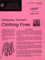Consumer concern clothing fires