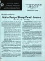 Predation and disease: Idaho range sheep death losses