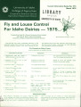 Fly and louse control for Idaho dairies, 1975